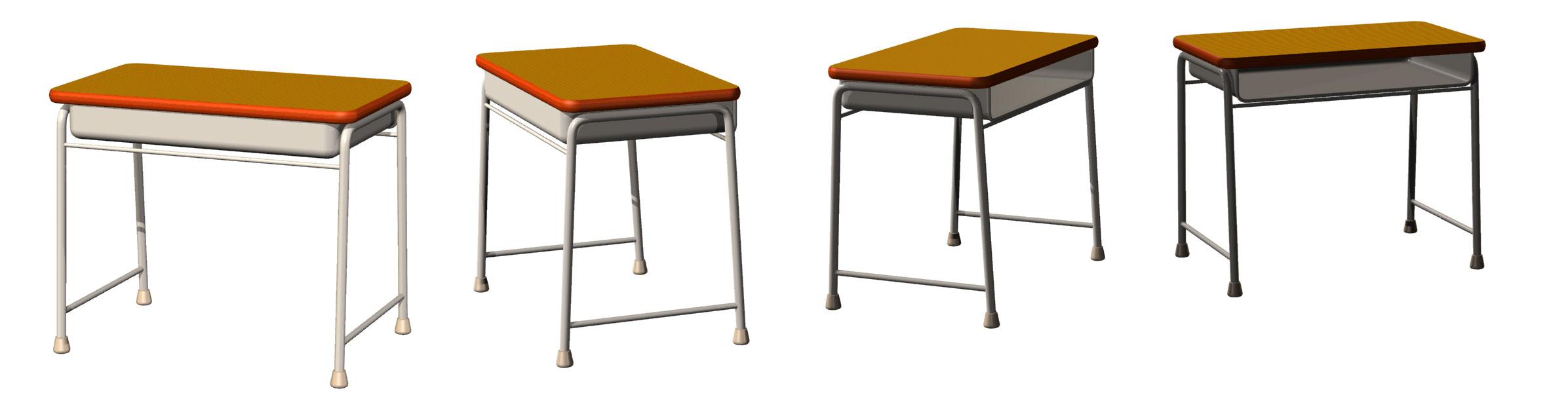 学校の机と椅子 地獄のけだまゾーン