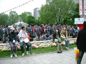 YOSAKOIの踊り手達_e0012815_219983.jpg