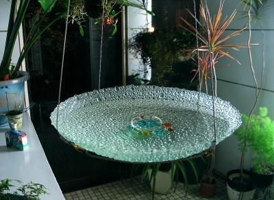 涼しさを演出 ガラスの水盤_e0010418_13591698.jpg