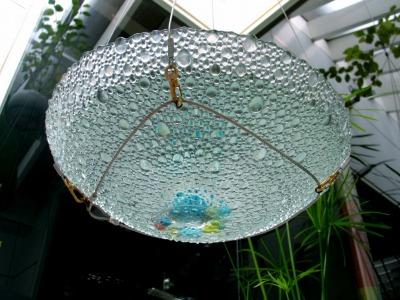 涼しさを演出 ガラスの水盤_e0010418_1411494.jpg