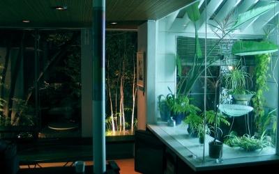 温室を取り込んだグリーンリビング_e0010418_1449575.jpg
