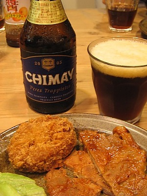 たまにはビールのガツン系・・・CHIMAY BLEUE (シメイ・ブルー)_c0001578_21171039.jpg