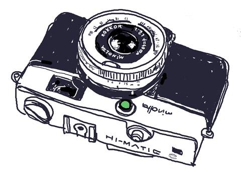 9月3日土 フォトショップでカメラのイラストを描く カメラ的日乗