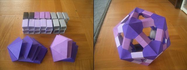 ハート 折り紙 折り紙36面体作り方 : mrtn.exblog.jp