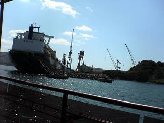 長崎港めぐり・遊覧船ゼリーフィッシュ_d0066127_1474541.jpg