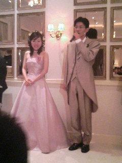 崎ちゃん&きよかさん ご結婚おめでとうヽ(´▽`)/_a0033733_1743435.jpg