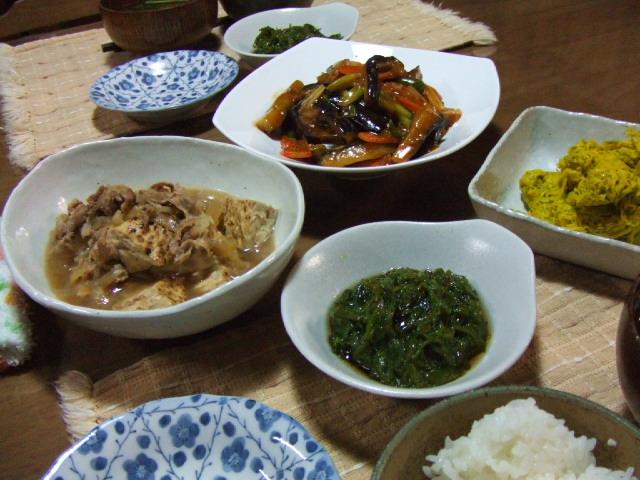 マーボー茄子と肉豆腐_e0012815_2120448.jpg