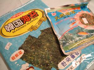 韓国海苔と栗ご飯_c0016493_432715.jpg