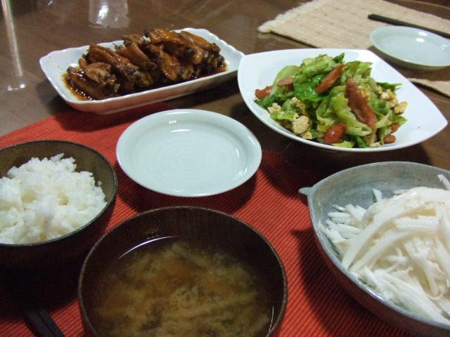 鶏手羽先のさっぱり煮_e0012815_23371251.jpg