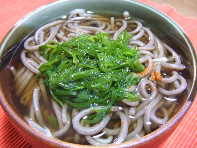めかぶ蕎麦_e0012815_21554855.jpg