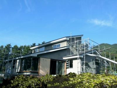 八ヶ岳の家 間もなく竣工! _e0010418_6261448.jpg