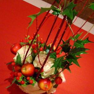 クリスマスに飾るアレンジメント_c0055343_1931192.jpg