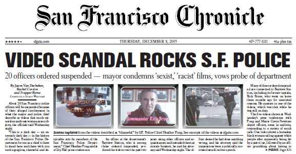 サンフランシスコ警官、パロディ映像制作で停職処分_d0066343_19252164.jpg