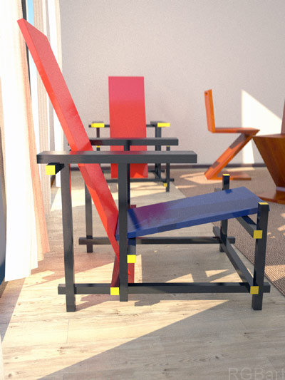 gerrit rietveld chairs plans
