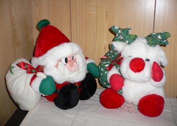 クリスマス 8 ― サンタとトナカイ_c0069048_6554948.jpg