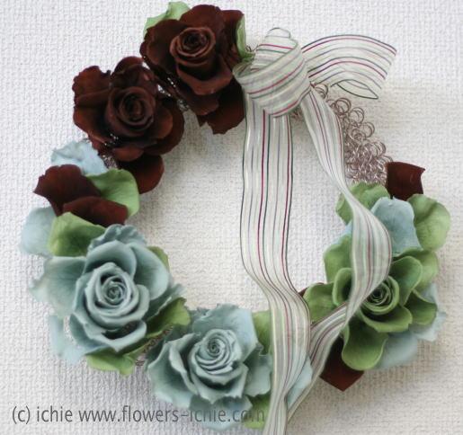 装花コース12月 リース_a0042928_0173856.jpg