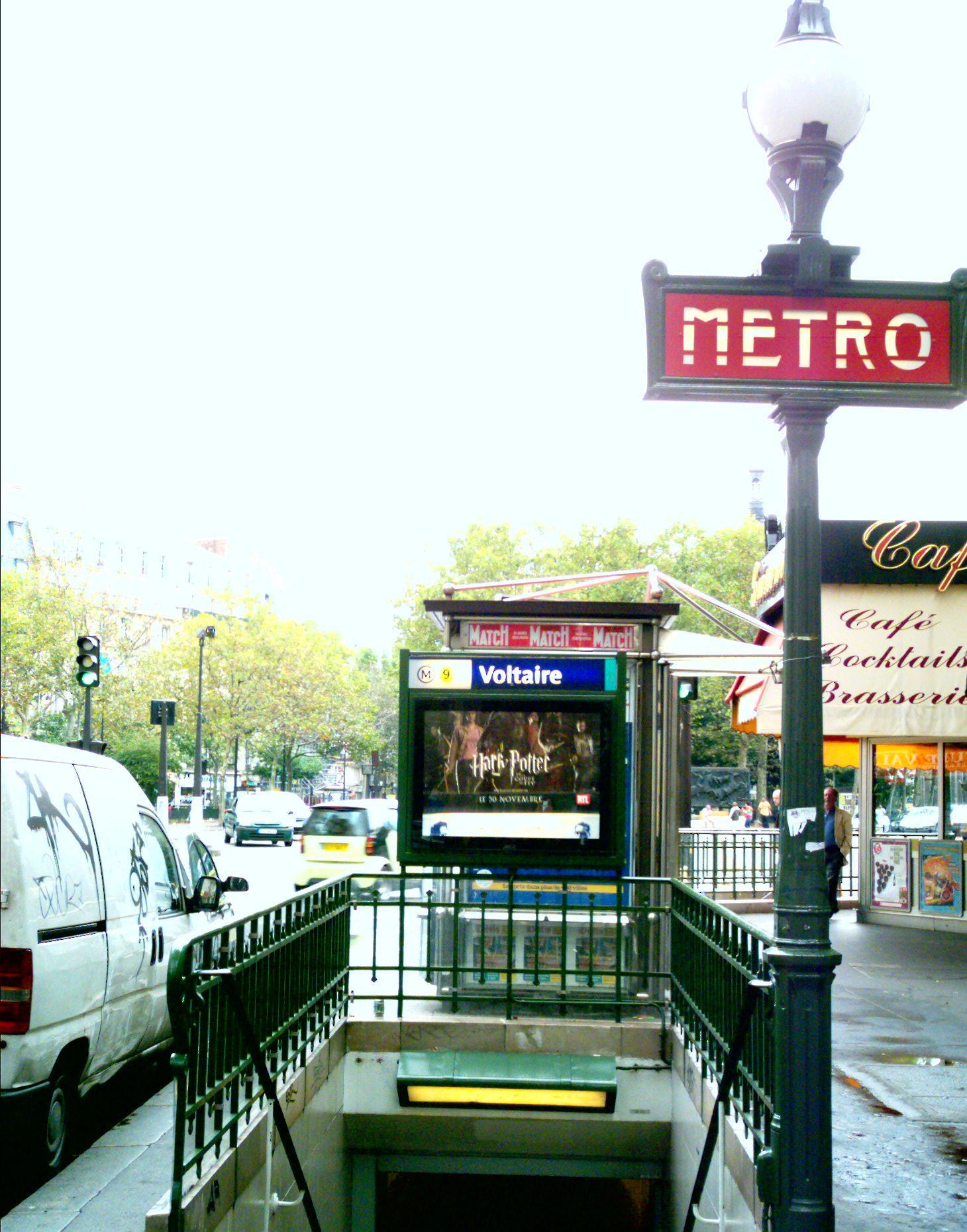 パリの交通網。 : ヴォルテール...