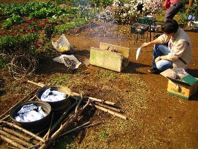 Log Jizo Festival【秋】焼き芋_c0038619_055193.jpg