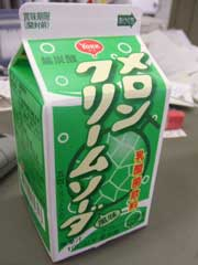 メロンクリームソーダ風味乳酸菌飲料_b0054727_2285990.jpg