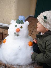 雪だるま完成~_e0086738_2075674.jpg