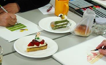 ケーキを描く(色鉛筆で描くイラスト講座/鴨島)_f0043592_22332820.jpg