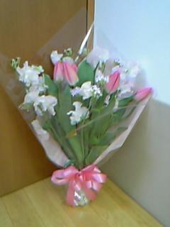 また、お花を頂きました。_c0049870_1736335.jpg