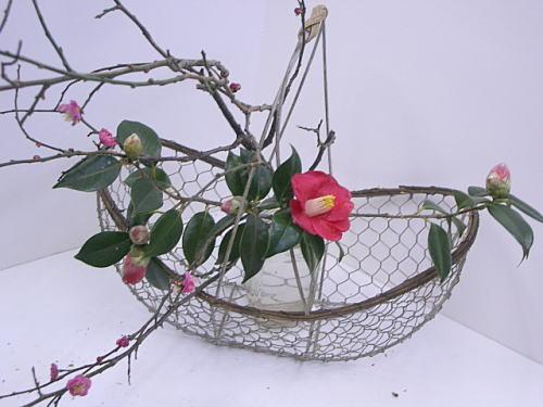 アレンジコース 春の枝を活ける_a0042928_091686.jpg