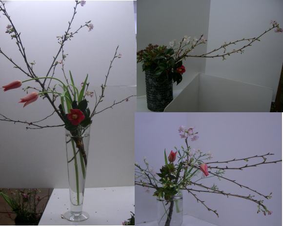 アレンジコース 春の枝を活ける_a0042928_092523.jpg