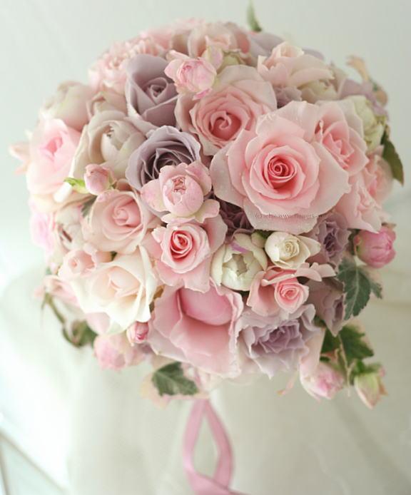 ティアドロップ バラ;ピンクオーブカラーのブーケ_a0042928_23185352.jpg