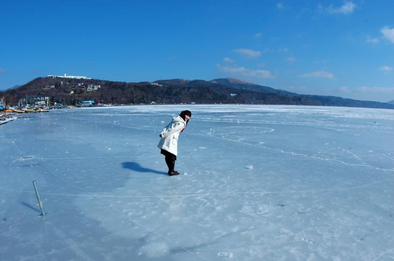 山中湖全面氷結_c0039145_1012383.jpg