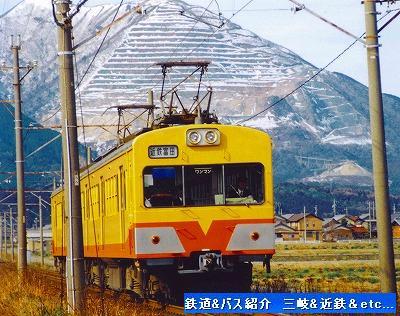 三岐鉄道三岐線 101系電車と藤原岳_e0040714_225276.jpg