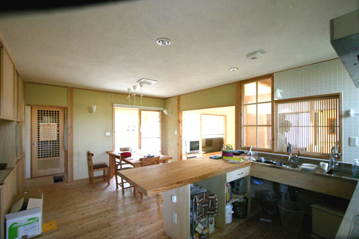 Q1札幌郊外の家10:キッチン・食堂_e0054299_13181327.jpg