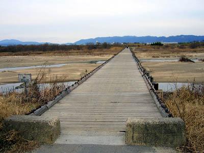 これが流れ橋かぁ