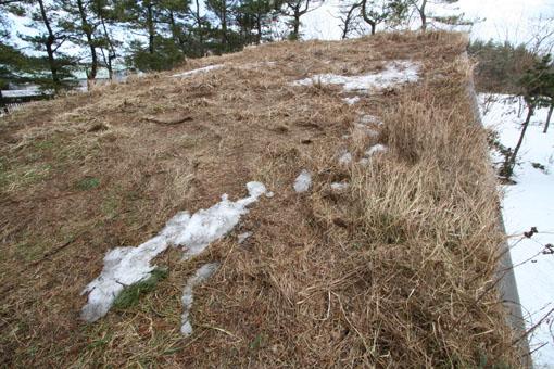 アトリエの芝棟屋根:雪がほとんどない_e0054299_11271312.jpg