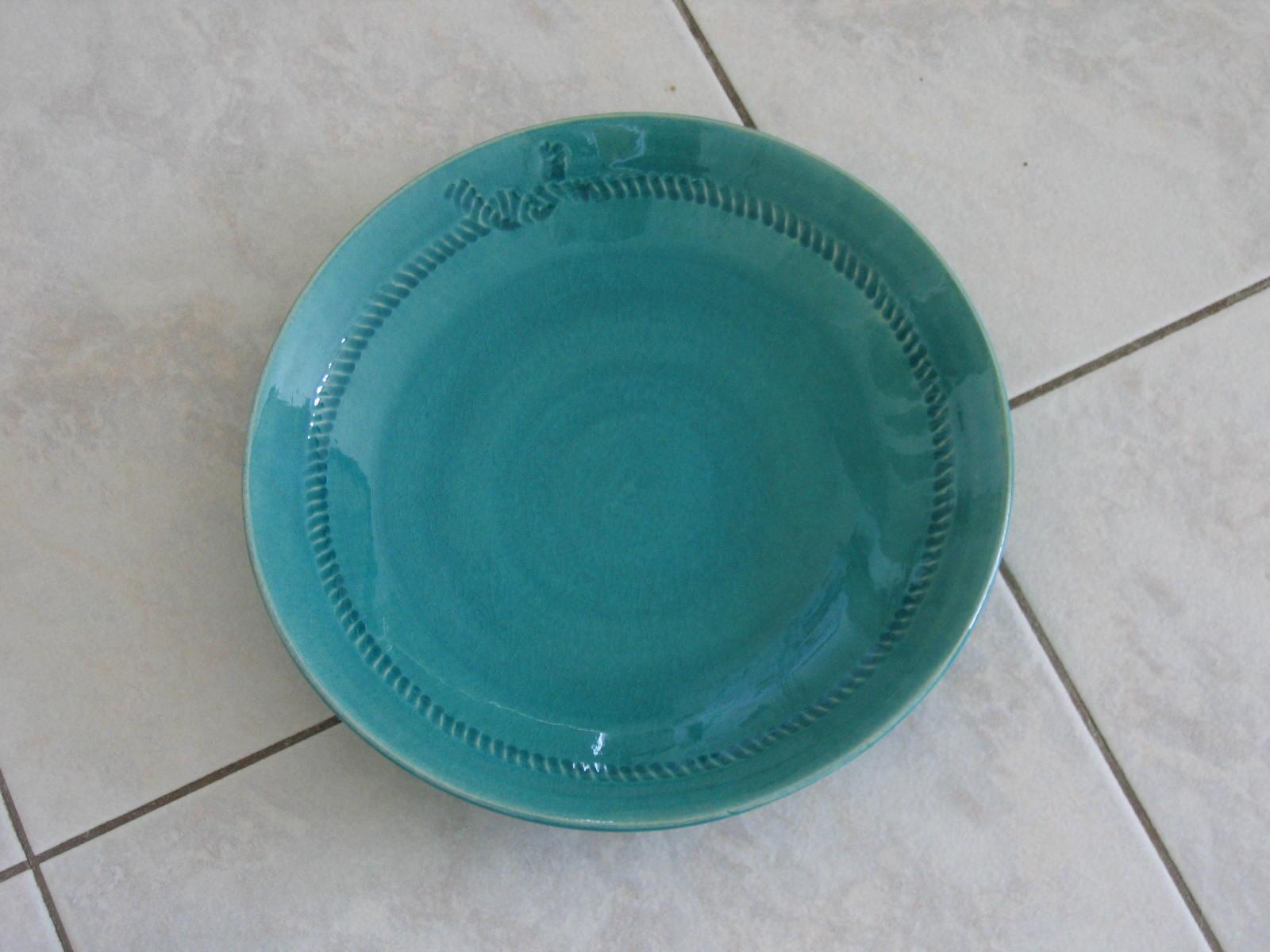 トルコ青の綱模様の皿_e0038312_2133542.jpg
