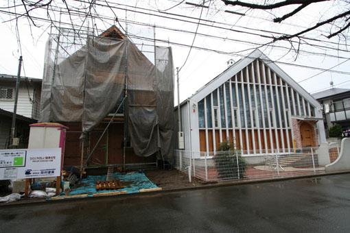 Q1吉祥寺の家09:建前_e0054299_10153984.jpg