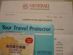 ビザの申請に必要なゼネラリ保険に加入しました。_f0090286_153383.jpg