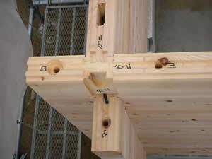 ログハウス建て方工事状況_f0073301_15155181.jpg