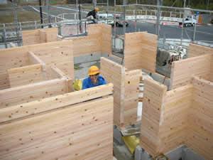 ログハウス建て方工事状況_f0073301_1564633.jpg