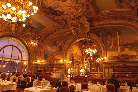 リヨン駅のレストラン、ル・トラン・ブルー_c0024345_1051066.jpg