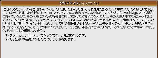 アイノの報告書(第4日目)                  「auriiの決断」 _f0016964_1391187.jpg