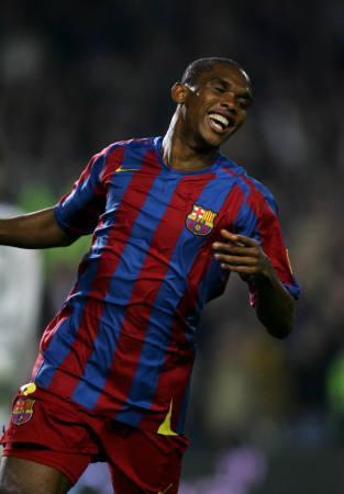 21 March 2006  vs Getafe - Eto\'o 22ゴール目_e0039513_0435431.jpg