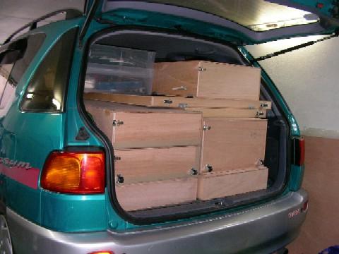 自家用車での運搬準備_a0066027_23153646.jpg