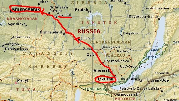 ユーラシア大陸横断 シベリア横断 (19)  イルクーツクからクラスノヤリスクへ _c0011649_9494524.jpg
