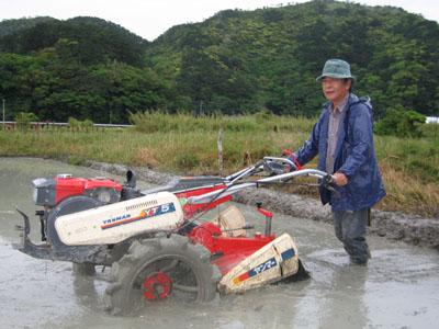 耕運機をかけて、畦(あぶし)も塗って、お疲れ様。_e0028387_23264835.jpg