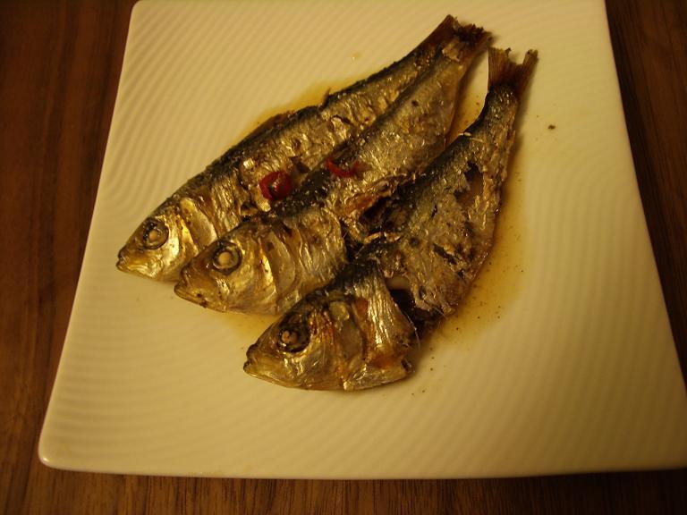 家常便飯 ママカリの酢漬け タコのピリ辛marine_a0039748_1651450.jpg