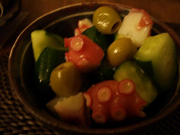 家常便飯 ママカリの酢漬け タコのピリ辛marine_a0039748_1652386.jpg