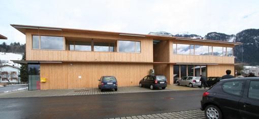 オーストリア研修18:カフマン設計のLudesch ルーデッシュの市役所1:外観1_e0054299_10534979.jpg