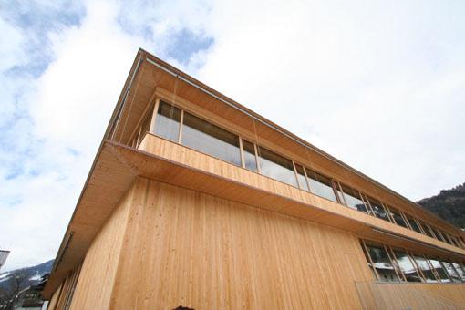 オーストリア研修18:カフマン設計のLudesch ルーデッシュの市役所1:外観1_e0054299_1058992.jpg