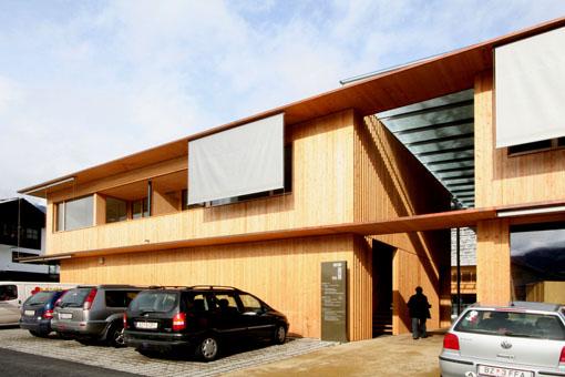 オーストリア研修19:カフマン設計のLudesch ルーデッシュの市役所2:外観2_e0054299_102686.jpg
